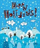Vacances heureuses de carte de voeux Photos stock