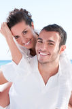 Vacances heureuses de couples Images libres de droits