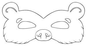 Vacances heureuses - masque d'ours de forêt Image libre de droits