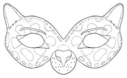 Vacances heureuses - masque de panthère noire Photographie stock libre de droits