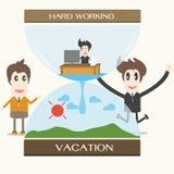 Vacances, homme d'affaires Photo stock
