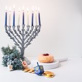 Vacances juives Hanukkah photo libre de droits