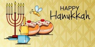 Vacances juives heureuses de Hanoucca Photo stock