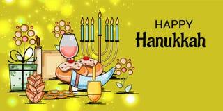 Vacances juives heureuses de Hanoucca Photographie stock