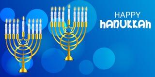 Vacances juives heureuses de Hanoucca Photo libre de droits