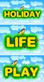 Vacances, la vie, jeu Image libre de droits