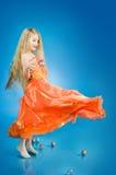 vacances mignonnes de fille de décorations peu Photographie stock
