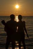 Vacances de coucher du soleil Image stock