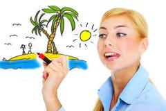 Vacances parfaites ! Image stock