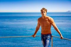 Vacances rêveuses par la mer Photo stock