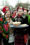 Vacances religieuses russes Maslenitsa Images libres de droits
