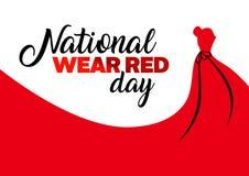 Vacances rouges de jour d'usage national illustration libre de droits