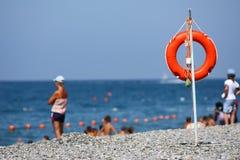Vacances sûres sur un bord de la mer Images stock