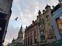 Vacances scotlandsky de monument de ciel de vol de mouche de Glasgow Ecosse Photographie stock