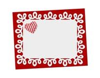 Vacances sensibles, carte de dentelle St Jour de Valentines Photographie stock