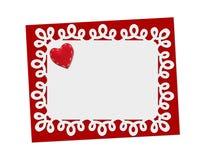 Vacances sensibles, carte de dentelle St Jour de Valentines Photo stock