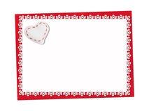 Vacances sensibles, carte de dentelle St Jour de Valentines Photos libres de droits