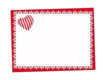 Vacances sensibles, carte de dentelle St Jour de Valentines Images libres de droits