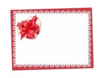 Vacances sensibles, carte de dentelle St Jour de Valentines Admettez son amour Photographie stock
