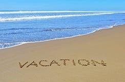 Vacances sur la plage d'été Images libres de droits