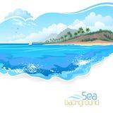 Vacances sur la station de vacances de Palm Beach illustration de vecteur