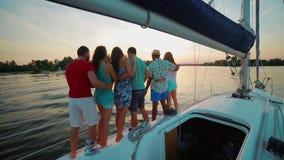 Vacances sur un yacht de navigation clips vidéos