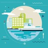 Vacances, tourisme et voyage d'été de planification Images stock