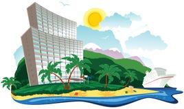 Vacances tropicales d'hôtel Images libres de droits