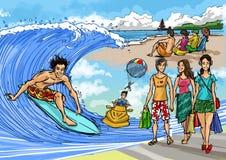 vacances tropicales de scène illustration libre de droits