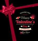 Vacances typographiques heureuses de jour de valentines Photographie stock