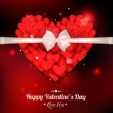 Vacances typographiques heureuses de lueur de jour de valentines Photo libre de droits
