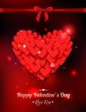 Vacances typographiques heureuses de lueur de jour de valentines Images libres de droits