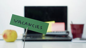 Vacancies memo stock images