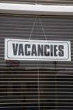 Vacancies Sign Royalty Free Stock Photography