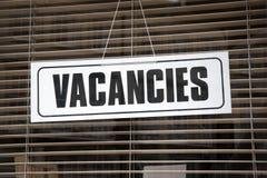 Vacancies Sign Stock Image