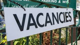 Vacancies Stock Images