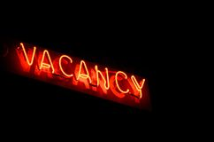 Vacancy. Sign vacancy shows the way to motel rooms stock image