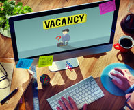 Vacancy Career Recruitment Available Job Work Concept Royalty Free Stock Photography