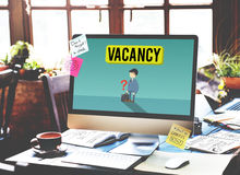 Vacancy Career Recruitment Available Job Work Concept stock photography
