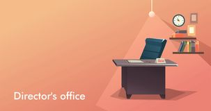 Vacancy Empty Workplace. Vector illustration empty workplace vacancy on leadership or leadership position in the company Stock Images