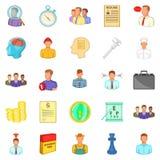 Vacancy icons set, cartoon style Stock Photo