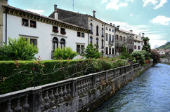 Vacancy in Italy. River in Vittorio Veneto, Italy royalty free stock photos