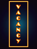 Vacancy Neon Sign Royalty Free Stock Photos