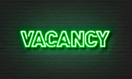 Vacancy neon sign Stock Photo