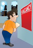 Vacancy poster Stock Image