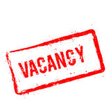 Vacancy red rubber stamp isolated on white. Stock Image