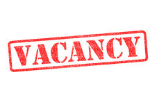 VACANCY Rubber Stamp stock photo