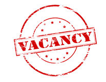 Vacancy. Rubber stamp with word vacancy inside, illustration royalty free illustration