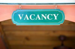 Vacancy sign Stock Photos