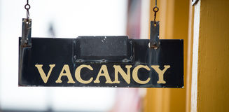 Vacancy sign Stock Images